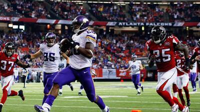 Vikings 20-10 Falcons: Adrian Peterson lideró victoria de Minnesota vs....