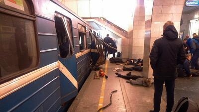 Imágenes de la explosión en el metro de San Petersburgo, Rusia, que dejó al menos 10 muertos