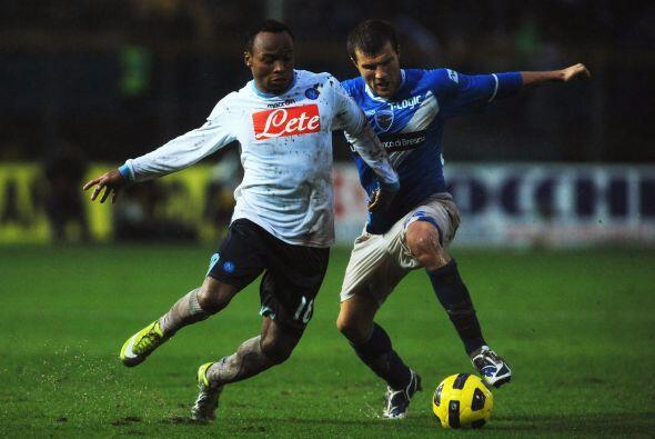 El Napoli también jugó como visitante, ante el Brescia.