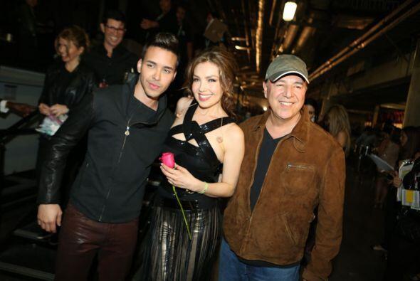 Tommy Mottola compartió a su esposa Thalía, aunque solo en escena con Pr...