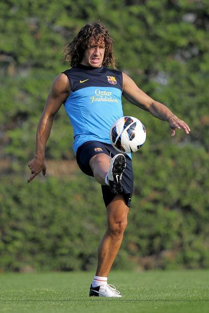 Puyol ya se ve mejor luego de superar su lesión de rodilla.