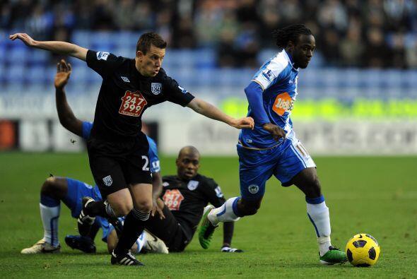 Wigan Athletic le ganó al West Bromwich por 1 a 0 con gol de Vict...