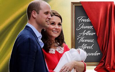 Los duques de Cambridge no han revelado el nombre de su tercer hijo.