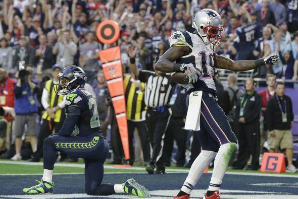 Brandon LaFell de los Patriots puso el sabor al bailar tras su TD (AP-NFL).