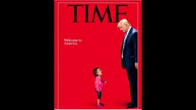 """""""Buscaba una mejor vida para sus hijos"""": La historia que llevó a EEUU a la niña hondureña de 2 años que aparece junto a Trump en la portada de Time"""