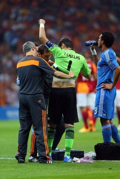 El arquero Iker Casillas, que fue anunciado como el titular para este to...