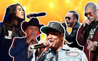 Lauren Jauregui of Fifth Harmony, Christian Nodal, Jay-Z, Yandel and Bad...