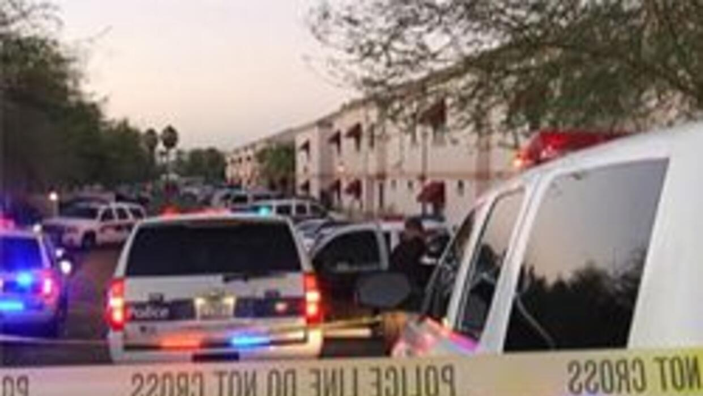 Policia de Phoenix en la escena del incidente