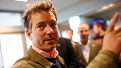 El republicano Rand Paul, hijo del ex precandidato presidencial Ron Paul...