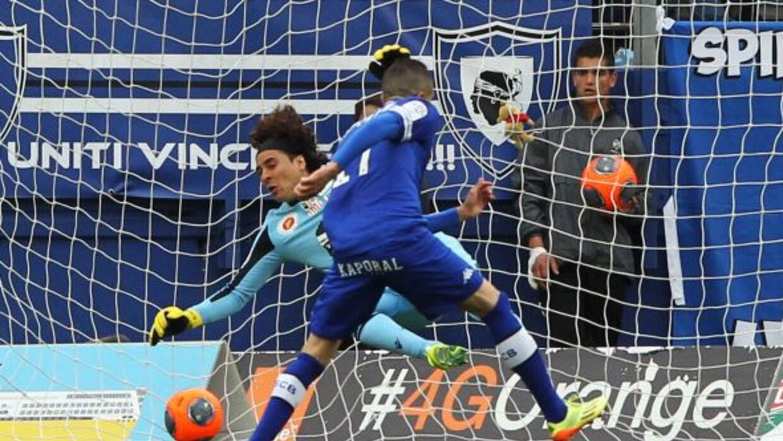 Ochoa no pudo evitar los goles del Bastia y de este modo su Ajaccio conc...