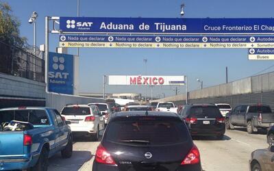 Cruce fronterizo de San Ysidro a Tijuana.