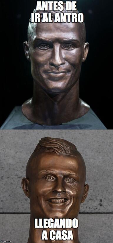 El nuevo busto de Cristiano no se salvó de los divertidos memes 27e8wb.jpg
