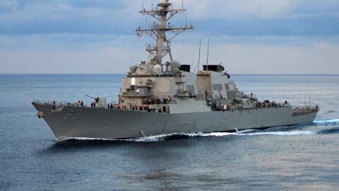 El USS Stethem en maniobras en el Pacífico