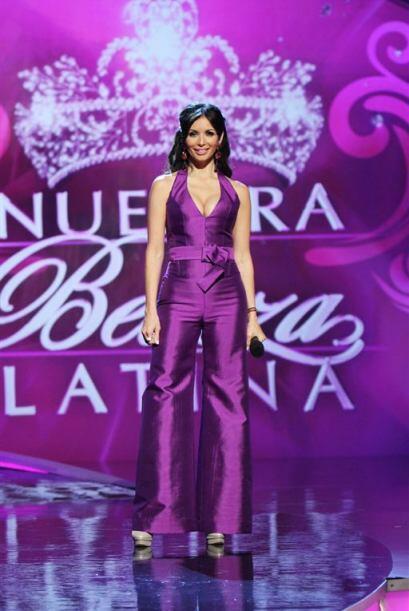 En esta gala utilizó el color de Nuestra Belleza Latina.