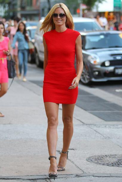 Heidi Klum aprendió de las pasarelas que vio día tras día en el programa...