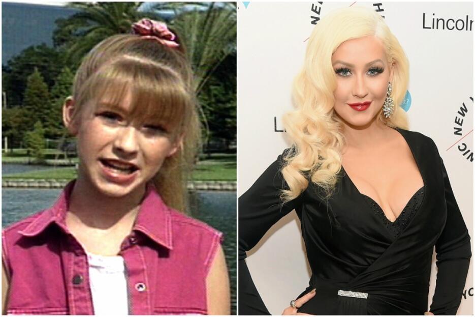 Al igual que Britney, Christina Aguilera brilló en la televisión antes d...