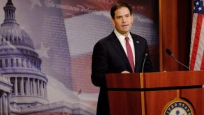 El senador Marco Rubio, republicano por Florida, es uno de los opositore...