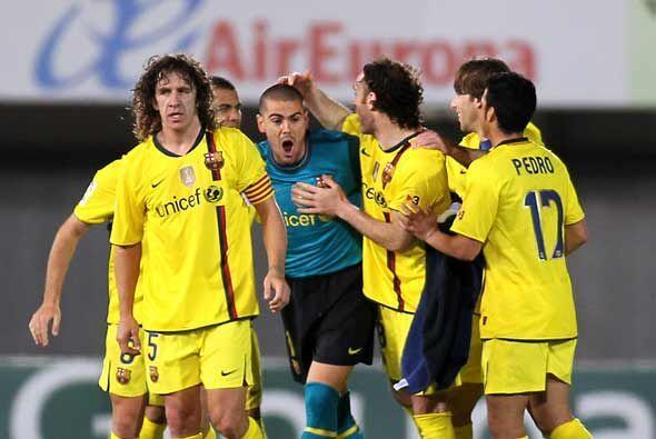 Al final el Barcelona celebró el triunfo en un campo difícil.