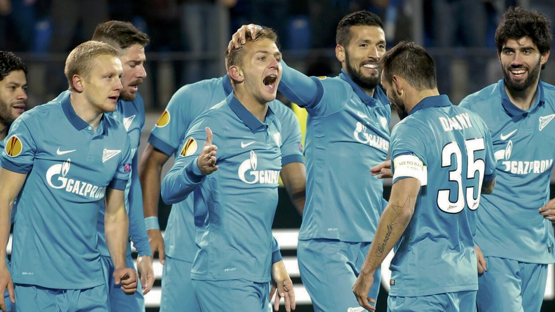 Domenico Criscito celebra un gol con Zenit
