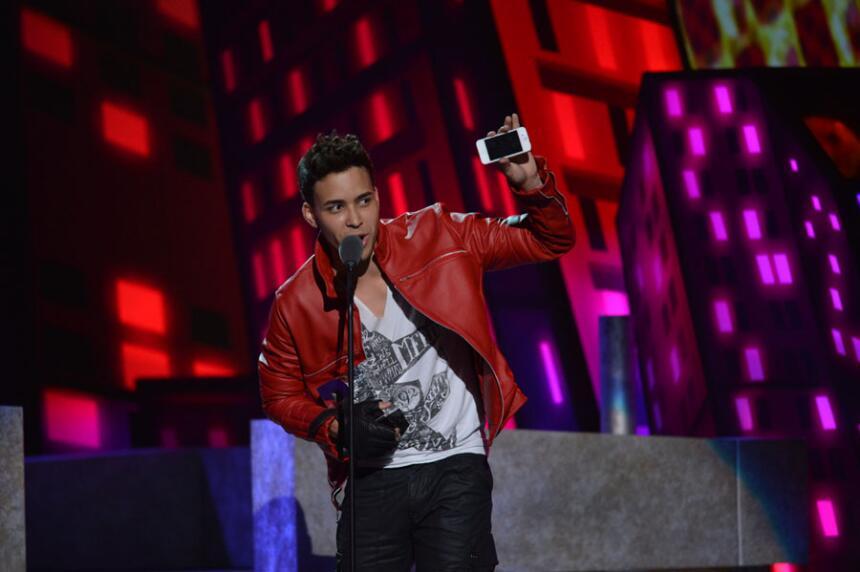 En 2012  llegó muy transformado a Premios Juventud.