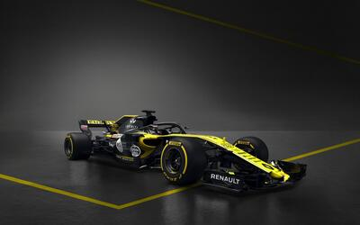 El R.S.18 luce los colores tradicionales, amarillo y negro.