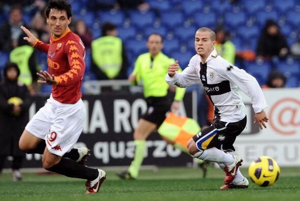Antes de semejante partido, la Roma recibió la visita del Parma.