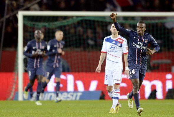 Matuidi logró el gol con el que el PSG se impuso al Lyon, para arrebatar...