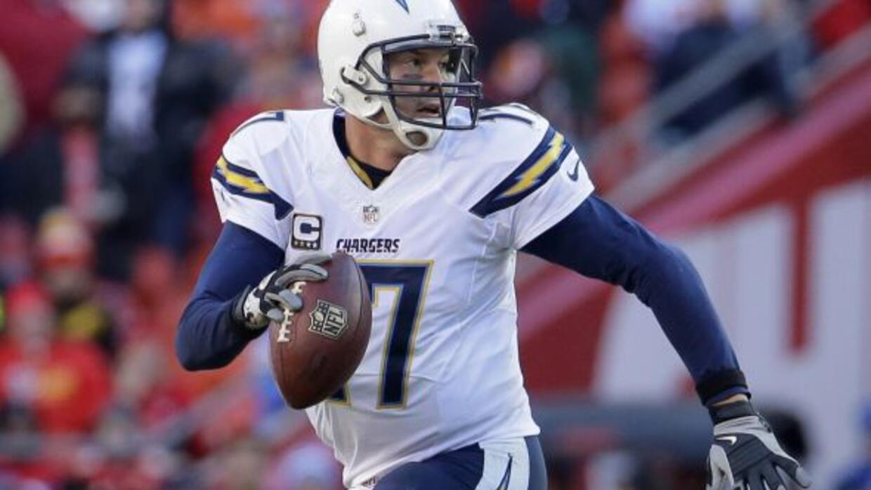Philip Rivers con los San Diego Chargers.