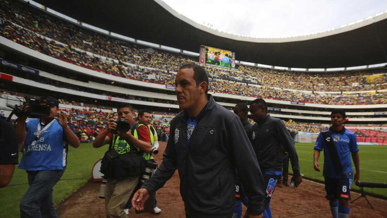 Uno de los últimos partidos de Cuauhtémoc Blanco en el Estadio Azteca.