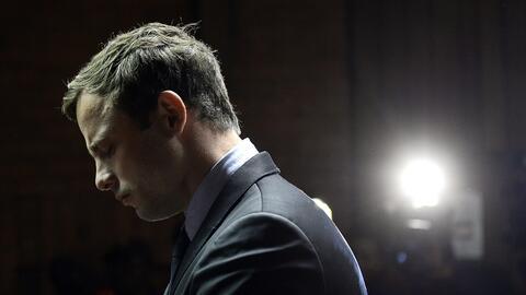 El atleta Oscar Pistorius durante una de las sesiones de su juicio.