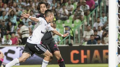 Bryan Garnica tras anotar su gol contra Santos.
