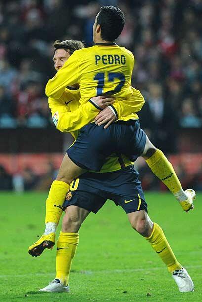 Pedro conquistó el gol que definió el encuentro al minuto 30.