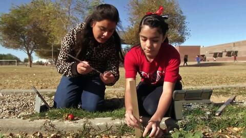 Estos estudiantes aprenden labores del campo gracias a la tecnología