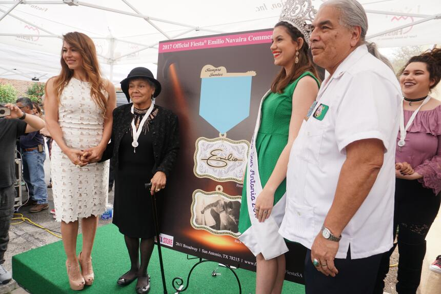 After 126 years the first ever celebrity Fiesta medal was revealed to ho...