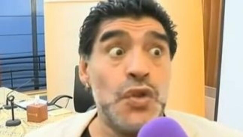 Maradona se asustó con la pregunta.