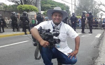 Samuel Rivas, quien fue asesinado frente a una iglesia por presuntos pan...