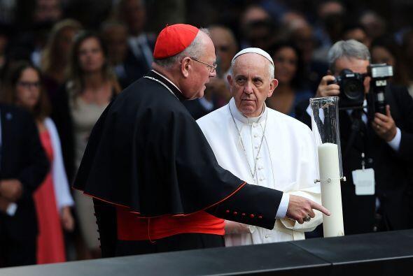 El cardenal Timothy Dolan con el papa Francisco.
