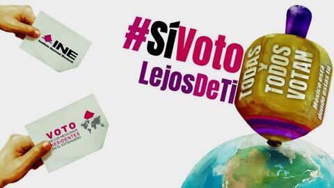 Campaña del INE para promocionar el voto de mexicanos en el extranjero.