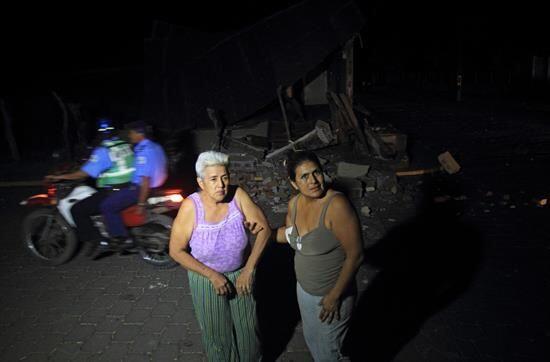 El sismo se sintió también en El Salvador, Honduras y Costa Rica.