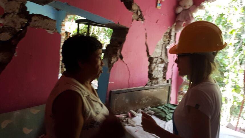 Belinda en el terremoto