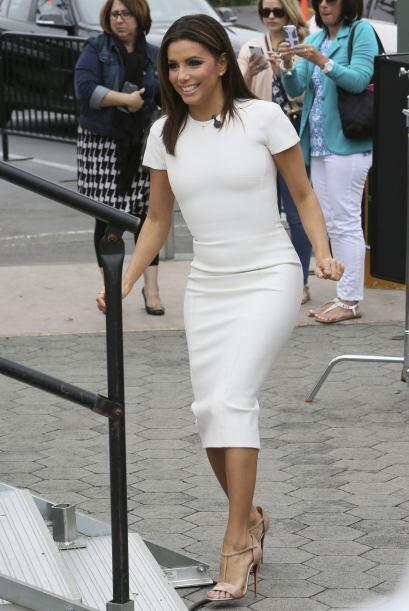 Lució radiante con este vestido que destacaba su silueta.