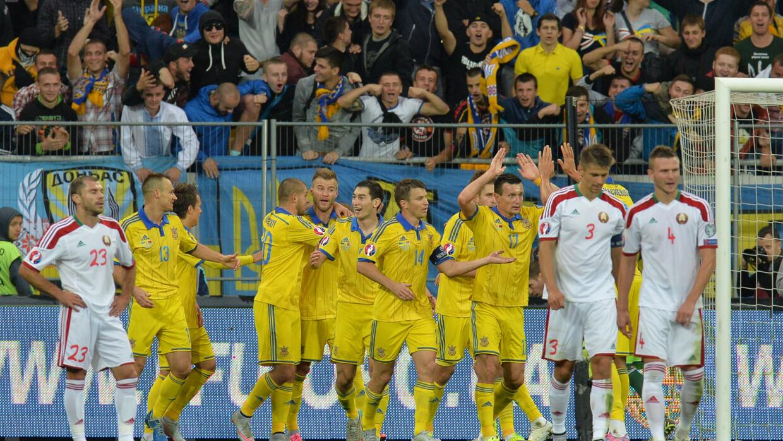 Ucrania celebra ante Bielorrusia