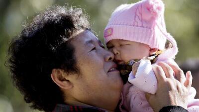 Madre y bebé chinos