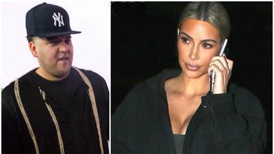 Rob Kardashian y Kim Kardashian