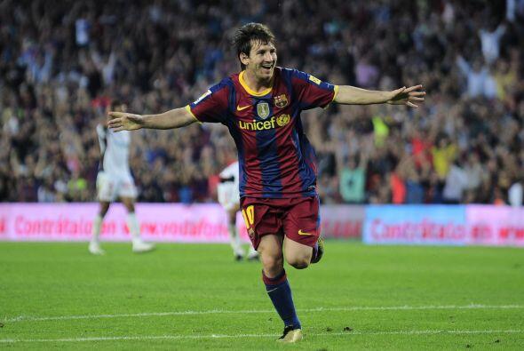 'La Pulga' Messi festejó su premio con un gol más en su historia con el...