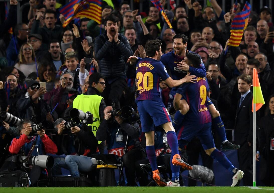 En fotos: Con el gol 100 de Messi en la Champions, el Barcelona eliminó...