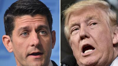 Paul Ryan y Donald Trump