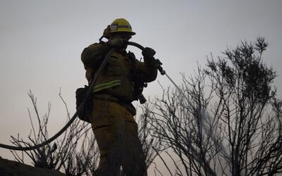 'Los Ángeles en un Minuto': incendio de Castaic está controlado en un 20 %