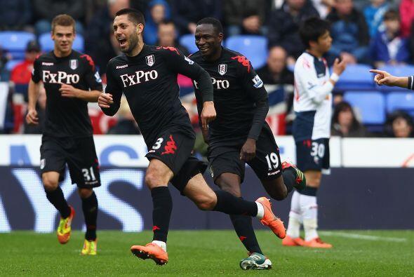Fulham, a fuerza de los goles de Dempsey, comparte la novena posición co...