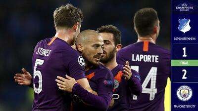 Manchester City saca un sufrido triunfo ante el Hoffenheim